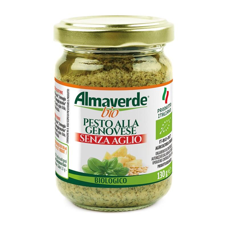 Pesto biologico alla Genovese senza aglio 130g | Almaverde Bio Shop Online