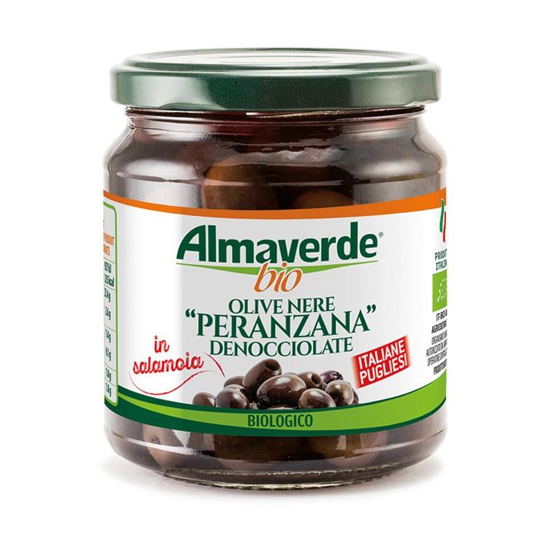 Olive nere 'Peranzana' denocciolate 290g | Almaverde Bio Shop Online