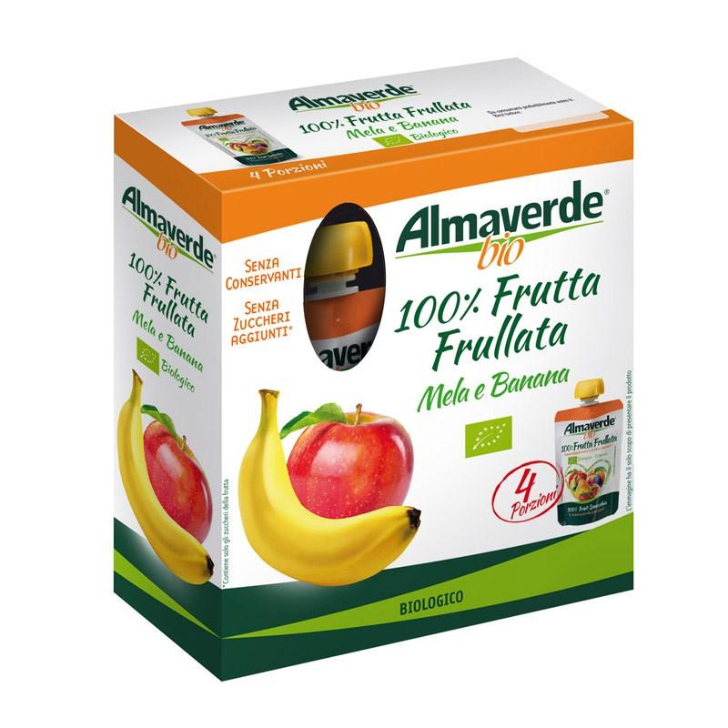 100% Frutta Frullata Mela e Banana 4x100g