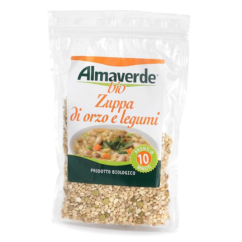 Zuppa di Orzo e Legumi 250 g - Pronta in 10 minuti!   Almaverde Bio Shop Online