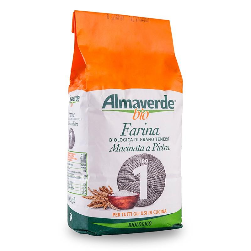 Farina biologica di Grano tenero tipo '1' 1000g | Almaverde Bio Shop Online