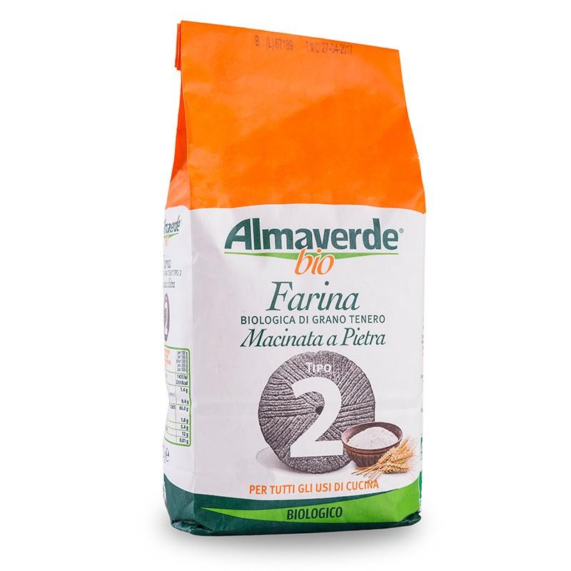 Farina biologica di Grano tenero tipo '2' 1000g | Almaverde Bio Shop Online