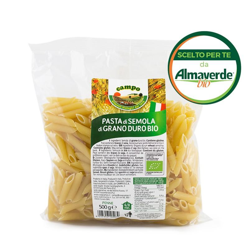 PENNE RIGATE di SEMOLA di grano duro 500g   Almaverde Bio Shop Online