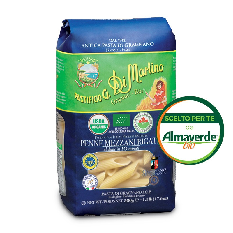 PENNE RIGATE di SEMOLA di grano duro di GRAGNANO IGP 500g   Almaverde Bio Shop Online