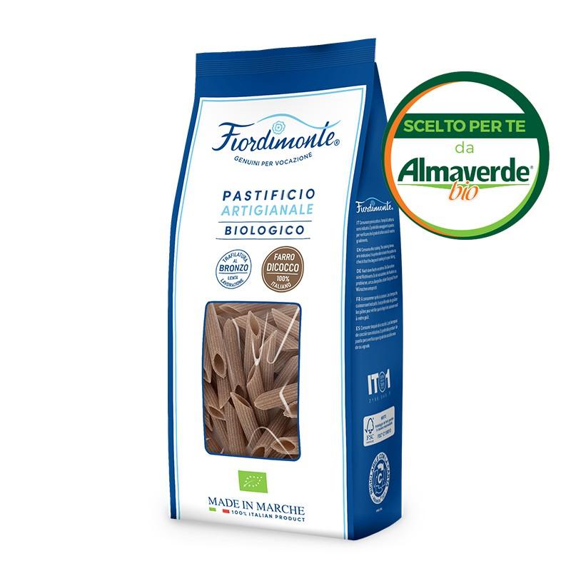 PENNE RIGATE artigianali di FARRO INTEGRALE Dicoccum 500g| Almaverde Bio Shop Online