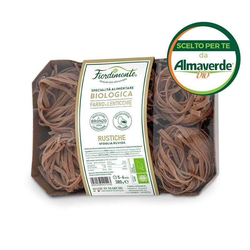 RUSTICHE artigianali di FARRO integrali E LENTICCHIE (linea aktiv) 380g| Almaverde Bio Shop Online