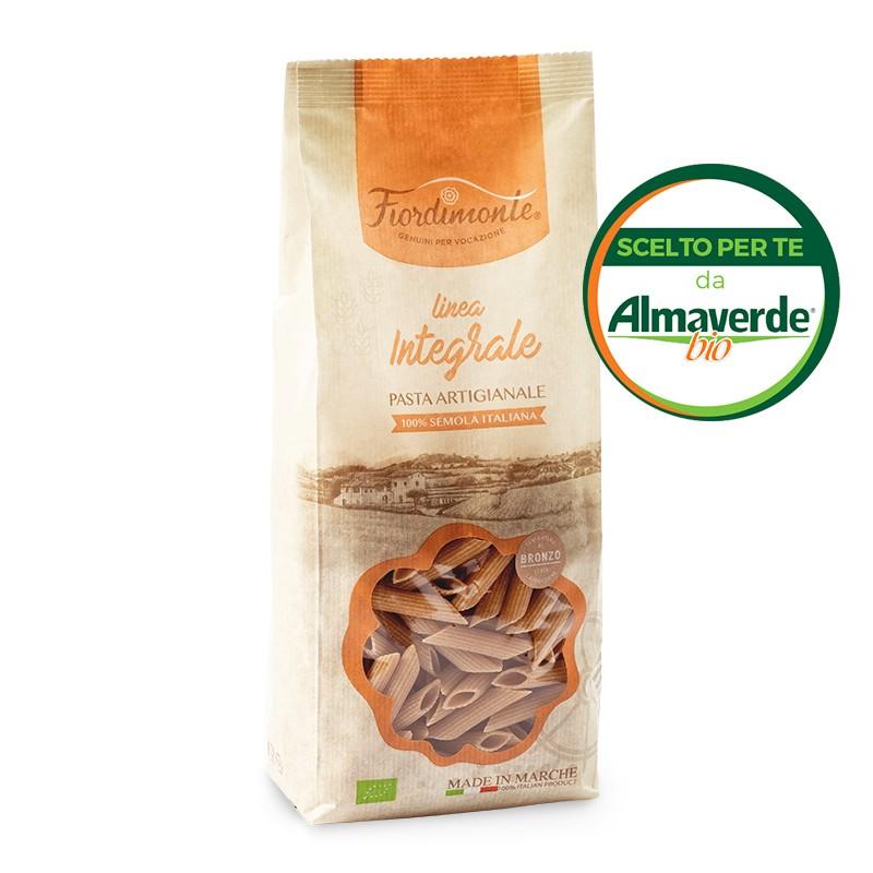 PENNE RIGATE artigianali di SEMOLA INTEGRALE di grano duro 500g | Almaverde Bio Shop Online