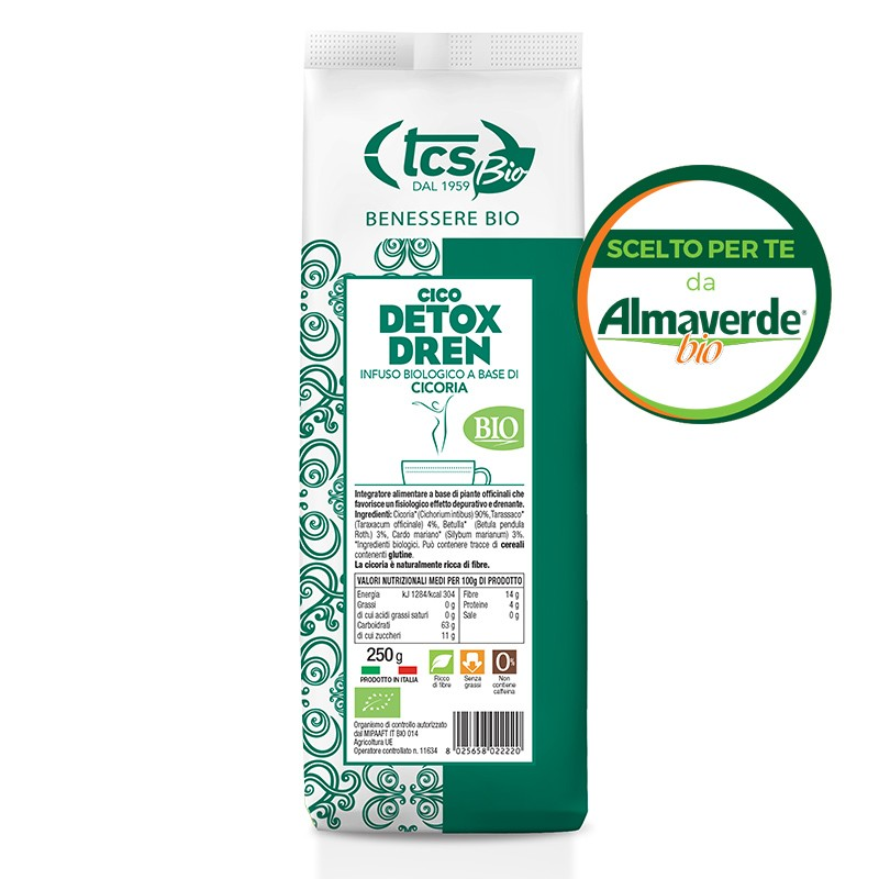 Cico DETOX DREN (cicoria, tarassaco, betulla, cardo mariano) 250g | Almaverde Bio Shop Online