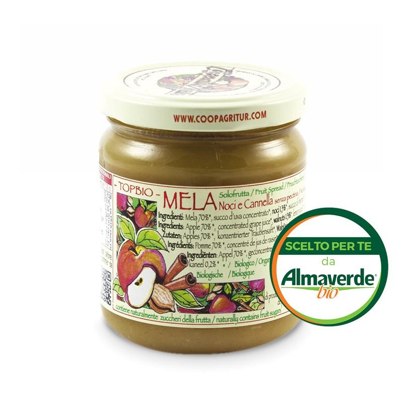 Composta di MELA NOCI CANNELLA 160% di frutta 210g   Almaverde Bio Shop Online