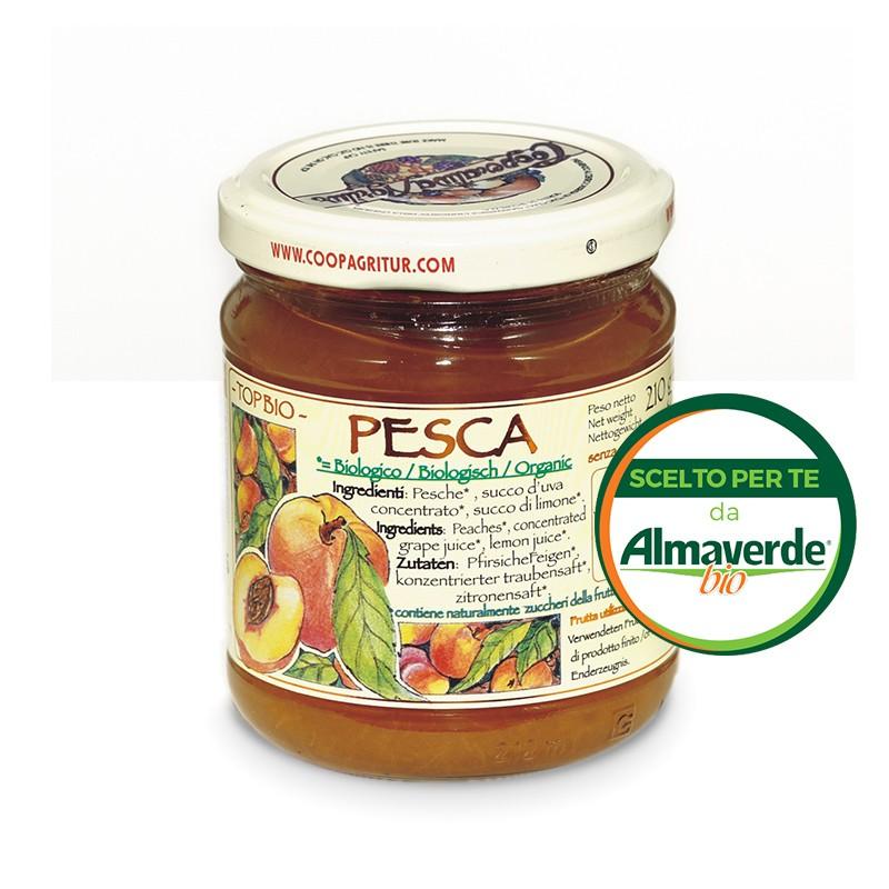 Composta di PESCA 130% di frutta 210g   Almaverde Bio Shop Online