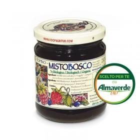 Composta di MISTO BOSCO (lamponi, mirtilli, fragole) 145% di frutta 210g | Almaverde Bio Shop Online