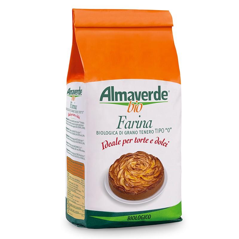 Farina biologica di Grano tenero tipo '0' per Torte 1000g | Almaverde Bio Shop Online